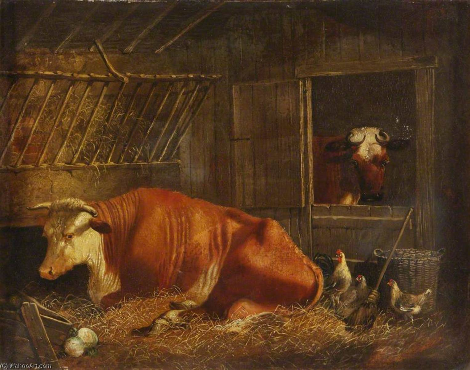 Hereford Cow, Oil On Canvas by Edmund Ward Gill