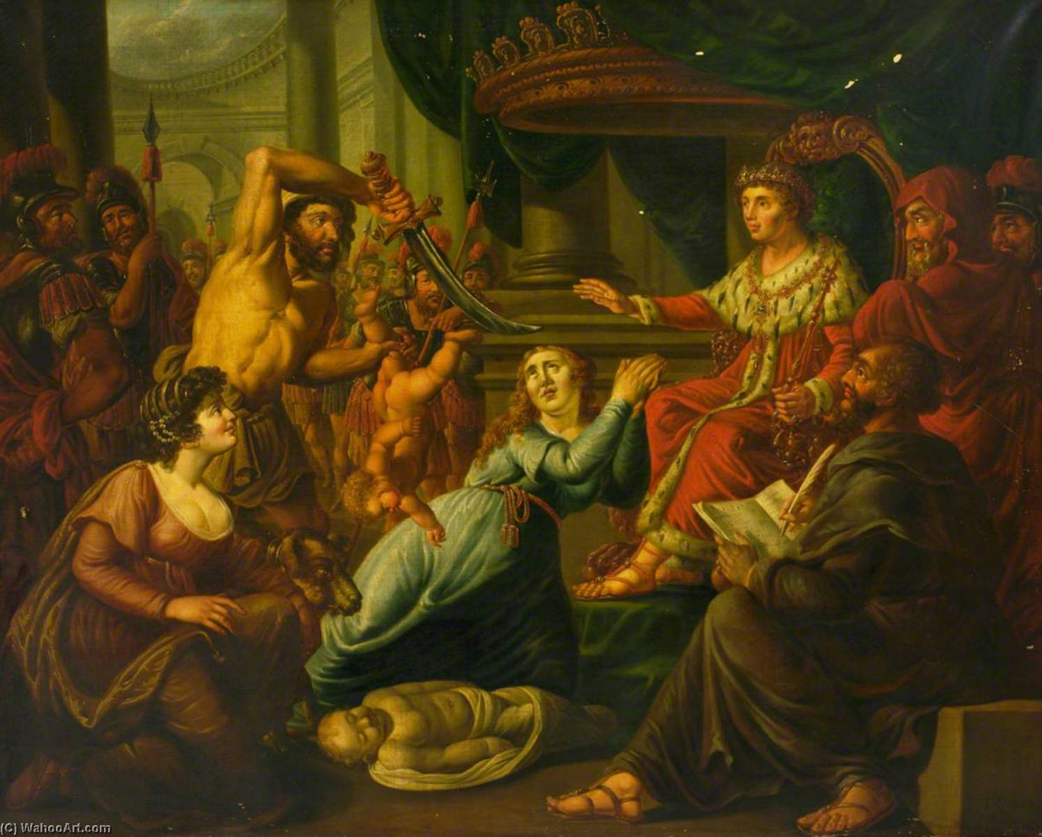 The Judgement of Solomon, 1810 by John Tobias Young | Museum Quality Reproductions | WahooArt.com