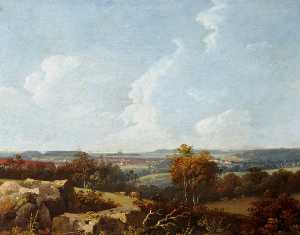 John Tobias Young - View of Fort Regent, Elizabeth Castle and Noirmont