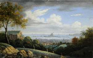 John Tobias Young - View of Fort Regent Overlooking Elizabeth Castle