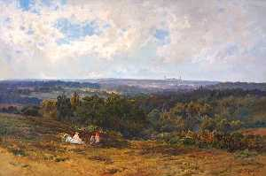 Alfred De Breanski Senior - Keston Common, Kent