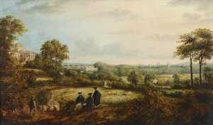 Richard Bankes Harraden - A View of Cambridge from the Observatory