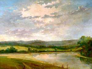 Alfred De Breanski Senior - Milson-s Point on the Thames near Runnymede, Surrey