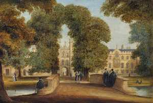 Richard Bankes Harraden - View of New Court from the Backs