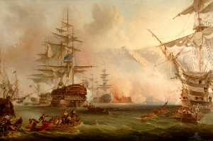 Henry J Morgan - The Bombardment of Algiers, 27 August 1816 (copy after George Chambers I)