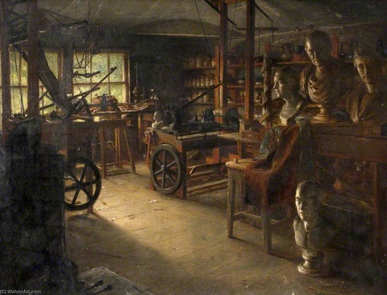 James Watt`s Work Room, Heathfield Hall, 1889 by Jonathan Pratt | Museum Quality Reproductions | WahooArt.com