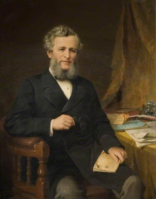 The Right Honourable Jesse Collings (1831–1920), 1881 by Jonathan Pratt | Art Reproductions Jonathan Pratt | WahooArt.com