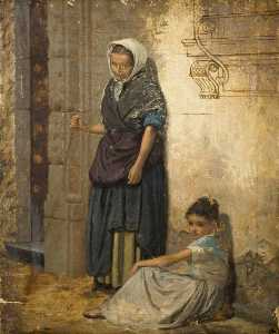 William Bright Morris - Peasant Woman and a Girl