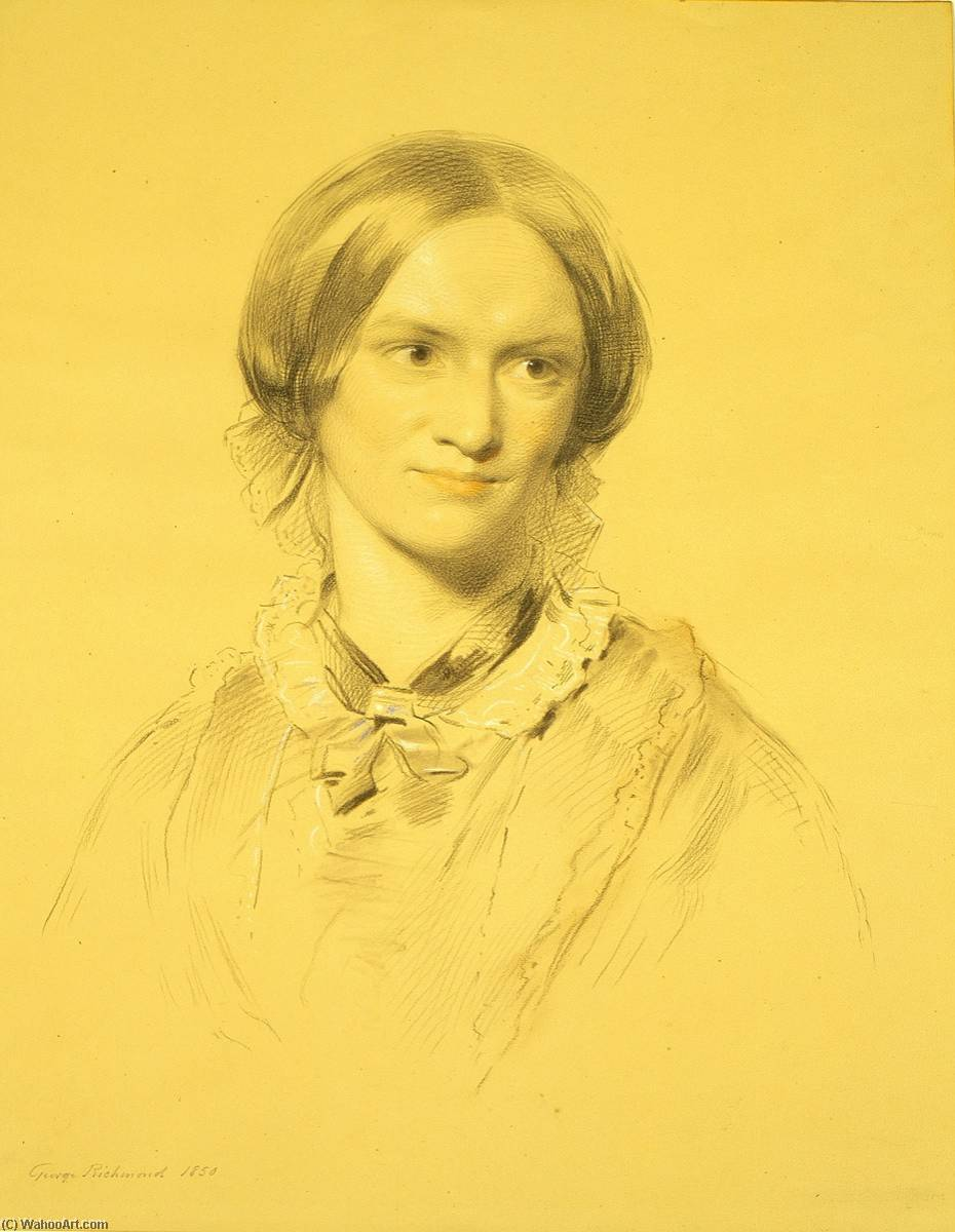 Charlotte Bronte (1816–1855) (after George Richmond), 1895 by William Bright Morris | Famous Paintings Reproductions | WahooArt.com