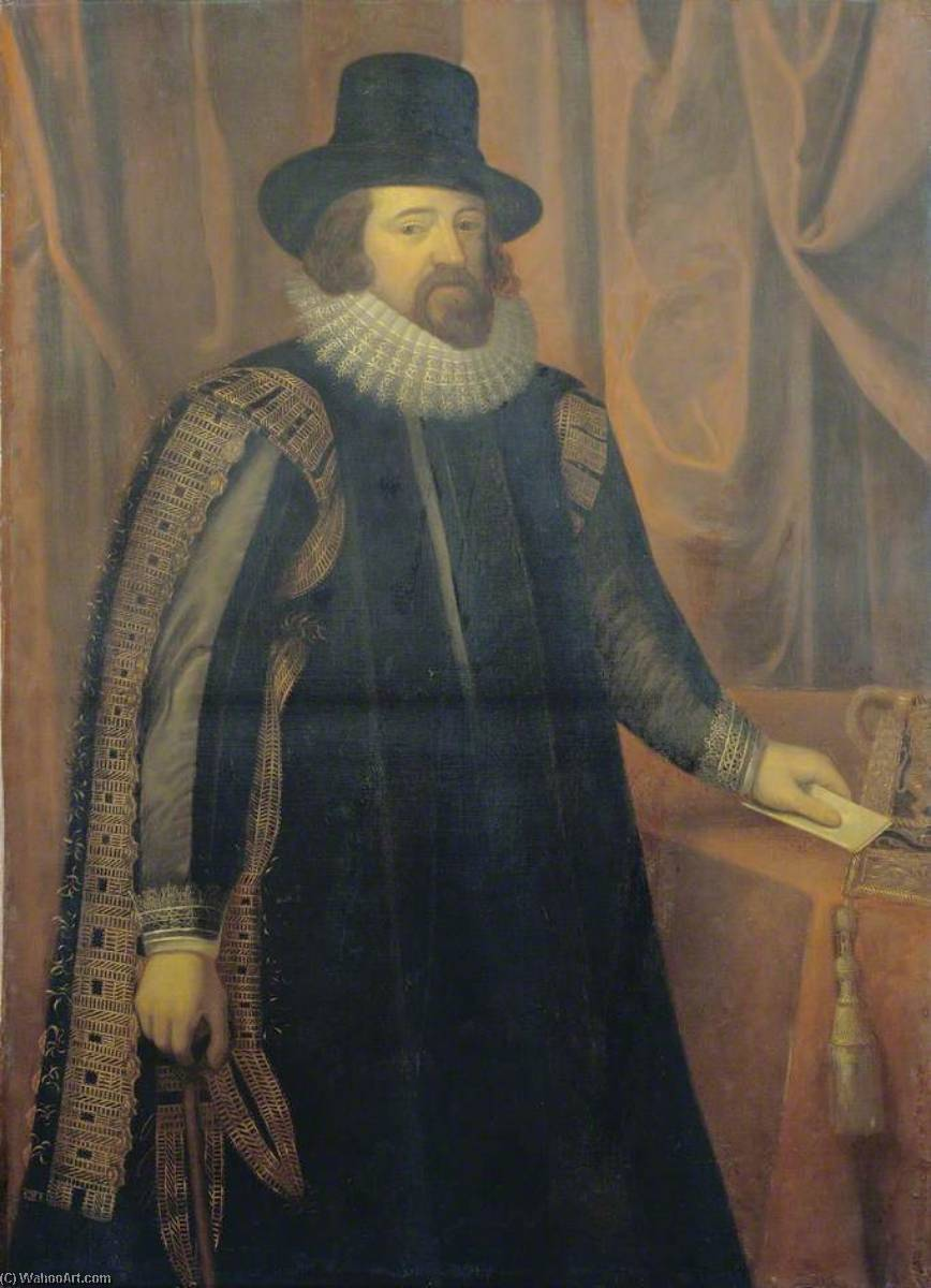 Francis Bacon (1561–1626), Viscount St Alban, 1900 by William Bright Morris | Famous Paintings Reproductions | WahooArt.com