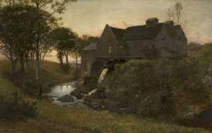 William Bright Morris - An Old Watermill, near Campbelltown