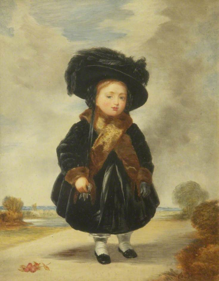 Order Art Reproductions | Princess Victoria (1819–1901), Aged 4, 1904 by William Bright Morris | WahooArt.com