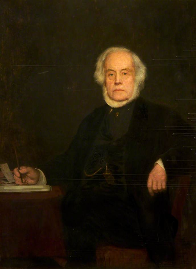 John Bright (1811–1889) by William Bright Morris | Oil Painting | WahooArt.com