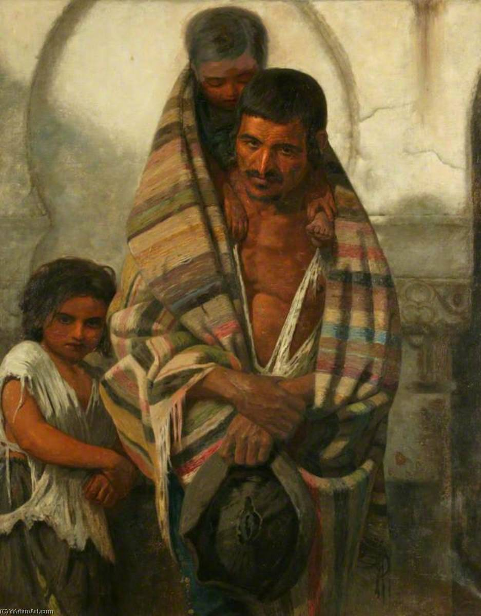 Order Art Reproduction : Spanish Beggars by William Bright Morris | WahooArt.com