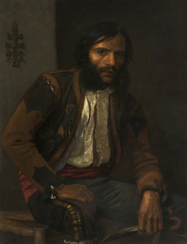 Spanish Sheep Shearer by William Bright Morris | Oil Painting | WahooArt.com