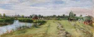 William Luker - Bloomer's Meadow at Lechlade