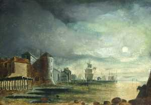 Henry Edward Locke - Canute Tower and Town Quay
