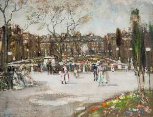 James Kay - Square in Paris, 2 Clichy