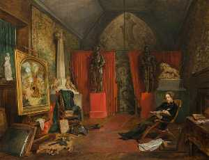 John Ballantyne - Sir Joseph Noel Paton (1821–1901), Artist (Shown in his Studio)