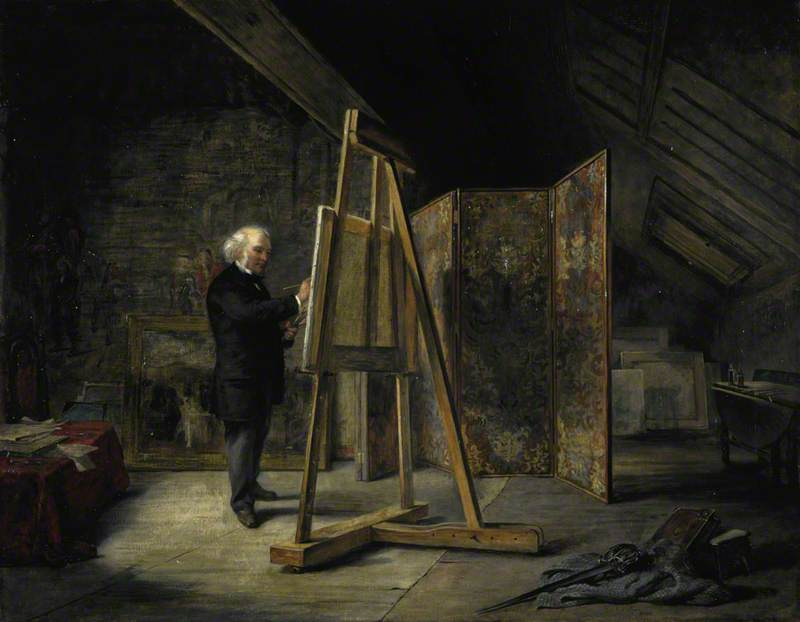 Sir George Harvey (1806–1876), Artist, in his Studio, 1865 by John Ballantyne | Museum Quality Reproductions | WahooArt.com
