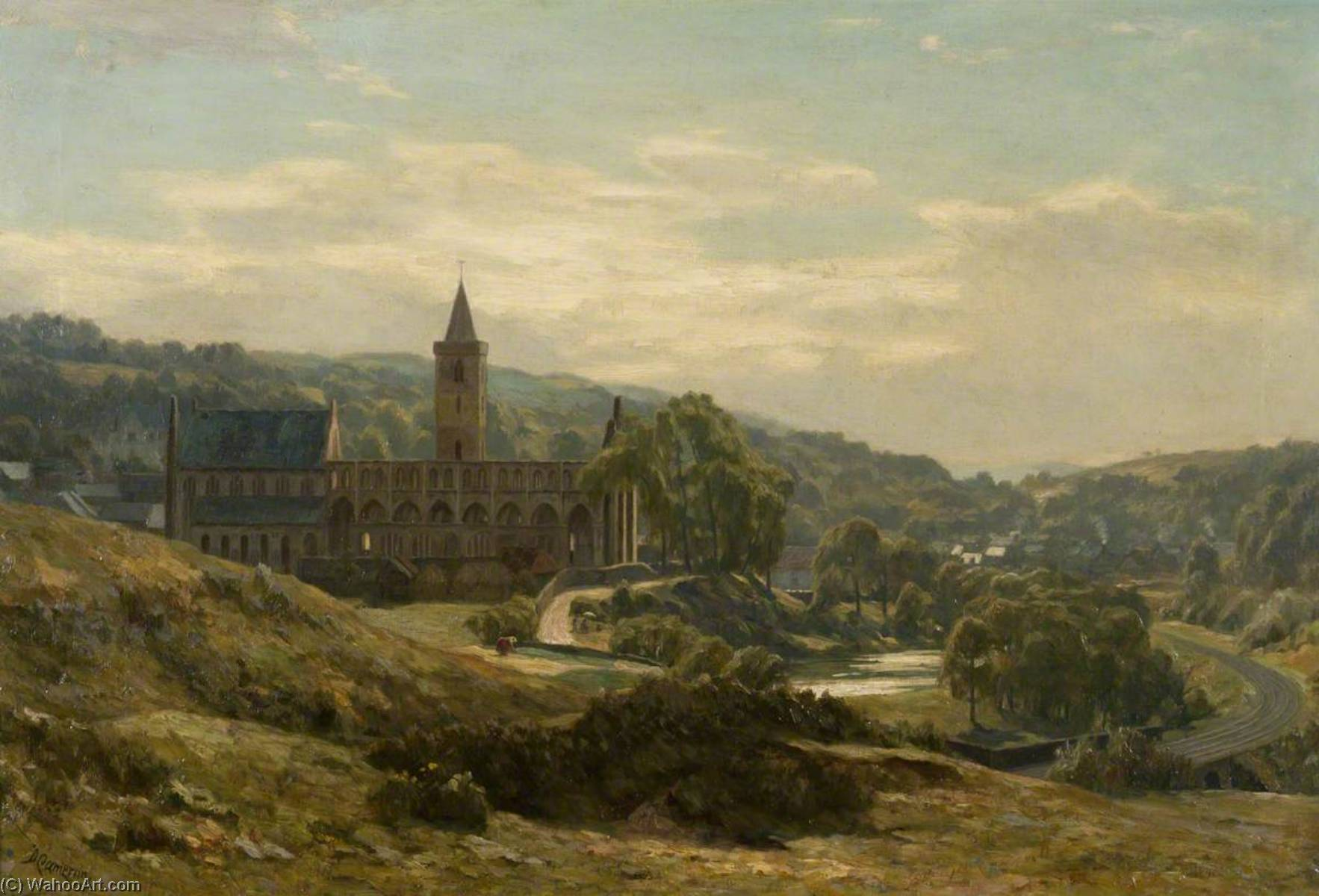Dunblane Cathedral, 1892 by Duncan Cameron | Art Reproduction | WahooArt.com
