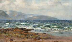 Duncan Cameron - Sea Loch in Rough Weather