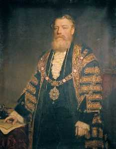John Robert Dicksee - Sir Henry Edmund Knight, Lord Mayor of London (1882)