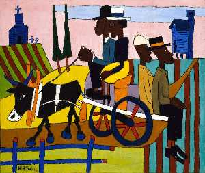 William Henry Johnson - Going to Church
