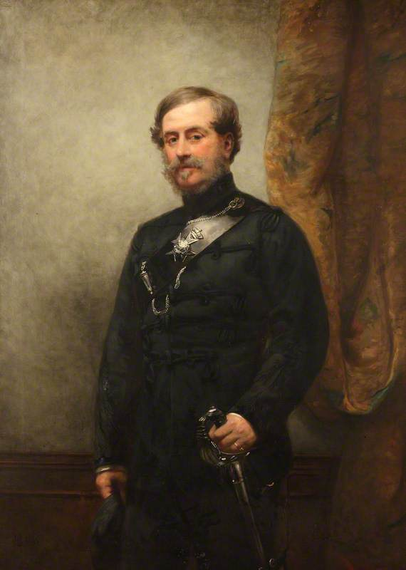 Colonel Robert Myddleton Biddulph (1805–1872), MP, 1869 by Henry Richard Graves | Art Reproduction | WahooArt.com