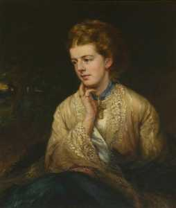 Henry Richard Graves - The Honourable Evelyn Stuart (d.1888), Daughter of the 12th Lord Blantyre and Wife of Archibald Kennedy, 3rd Marquess of Ailsa