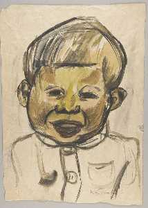 William Henry Johnson - Portrait of a Little Boy