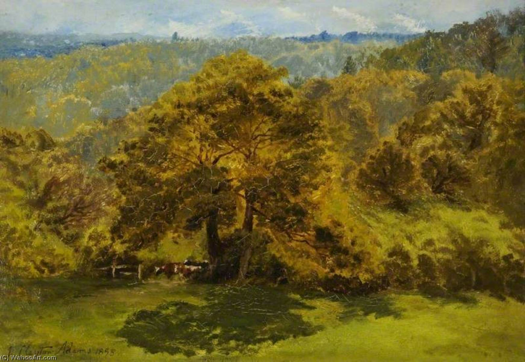 In the Surrey Woods, 1895 by John Clayton Adams (1840-1906) | Museum Quality Reproductions | WahooArt.com