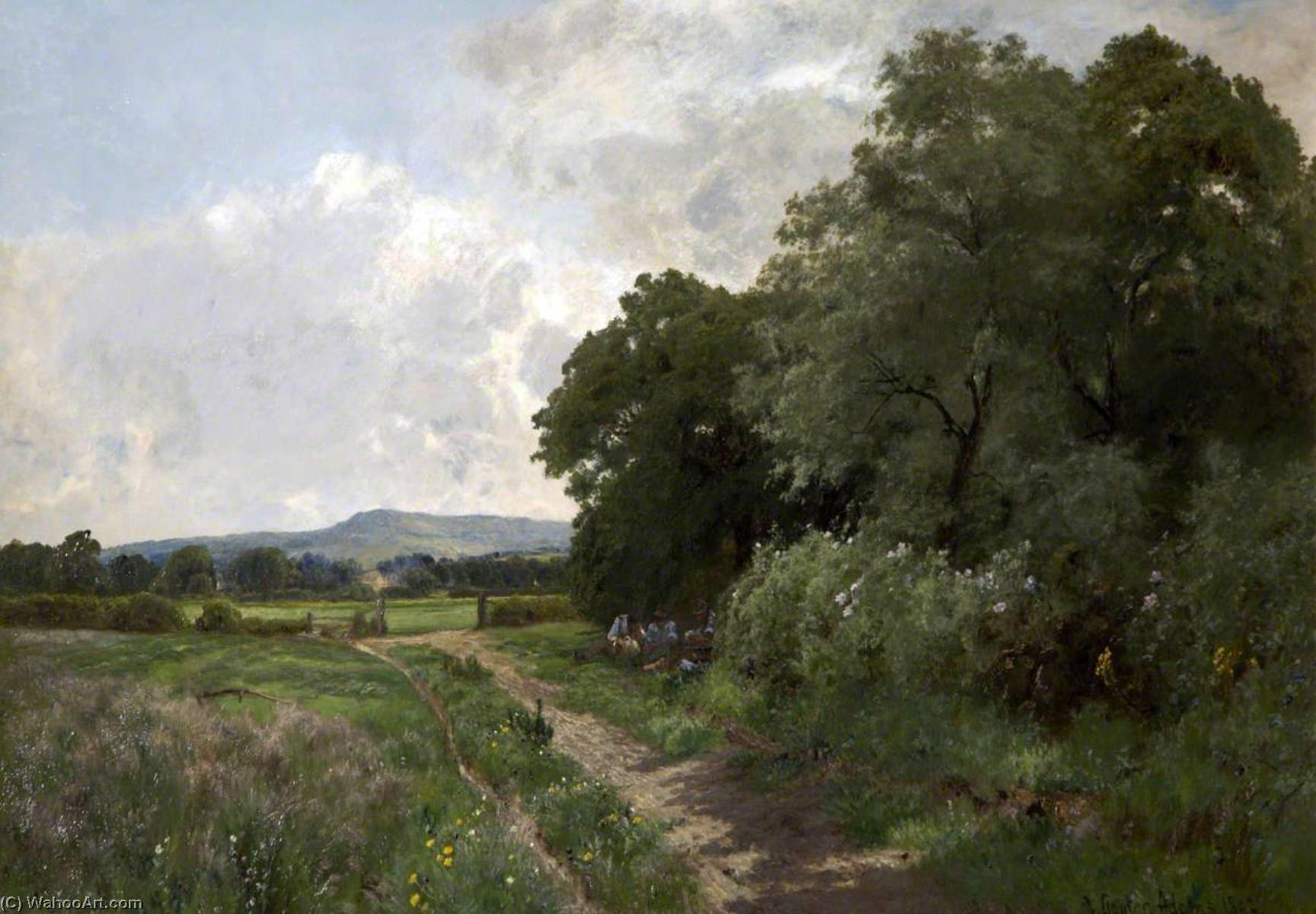 A June Day, 1892 by John Clayton Adams (1840-1906) | Art Reproduction | WahooArt.com