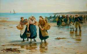 Robert Jobling - When the Boats Come in (Morning on the Beach)