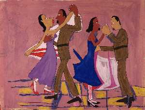 William Henry Johnson - Soldiers Dancing