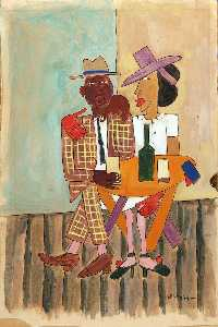 William Henry Johnson - High Life, Harlem
