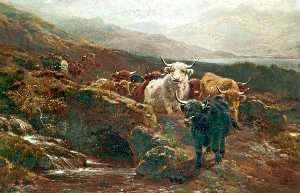 William Watson Ii - Scottish Landscape, Highland Cattle