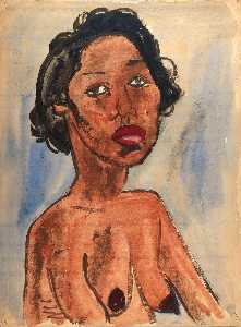 William Henry Johnson - Female Nude Portrait Bust