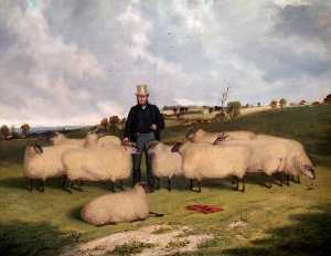 Richard Whitford - John Treadwell and His Flock of Oxford Down Sheep