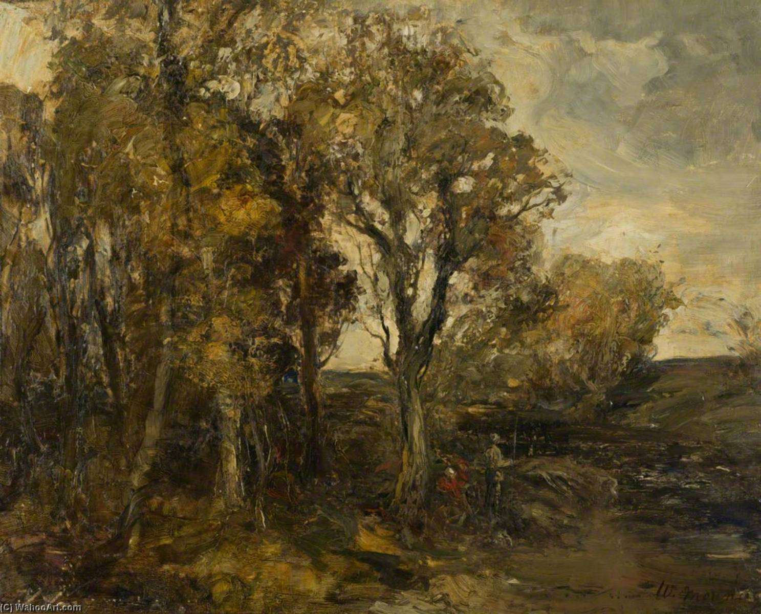 Autumn Trees, Oil On Canvas by William Mouncey