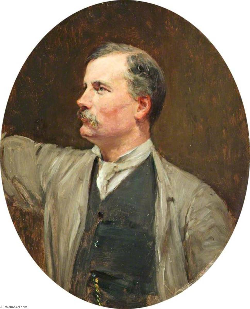 Sir Thomas Brock (1847–1922), RA, 1888 by Theodore Blake Wirgman | Famous Paintings Reproductions | WahooArt.com