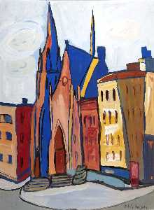 William Henry Johnson - Church on Lenox Avenue