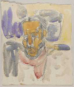 William Henry Johnson - Head of Bearded Man with White Hair