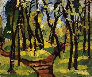 William Henry Johnson - Landscape with Trees