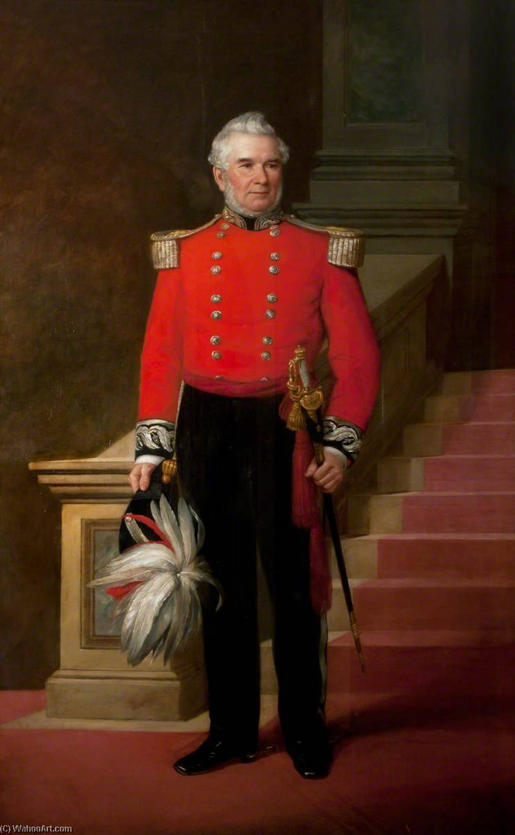 Sir Edward Coey, DL, Mayor (1861) by Thomas Alfred Jones | Museum Art Reproductions Thomas Alfred Jones | WahooArt.com