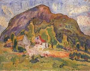 William Henry Johnson - Farmhouse at the Foot of Rotsethornet