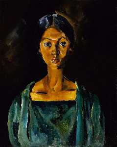 William Henry Johnson - Girl in a Green Dress (Portrait Study No. 22)