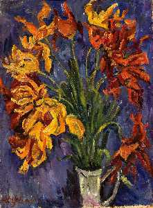 William Henry Johnson - Still Life Yellow Lilies