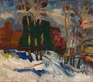 William Henry Johnson - Winter Sunday