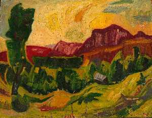 William Henry Johnson - Mountains and Fields